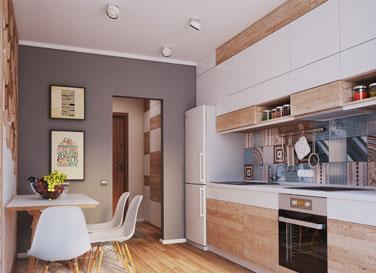 Натяжной потолок Pongs в кухне