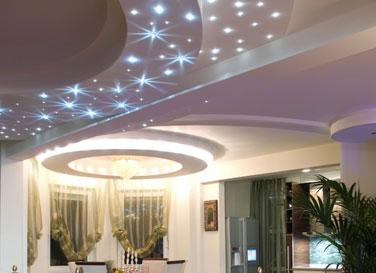 Натяжной потолок с кристаллами Swarovski