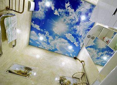 Матовый потолок с фотопечатью 2,7 м²