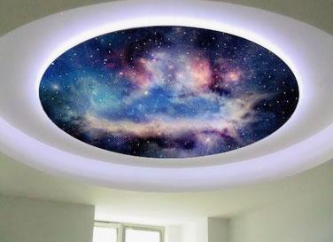 """Потолок """"Звездное небо"""" 50 звезд на м²"""