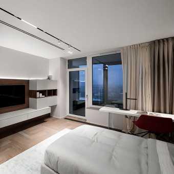 Черные ниши в потолке из MSD Premium