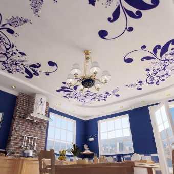 Стильный потолок с печатью