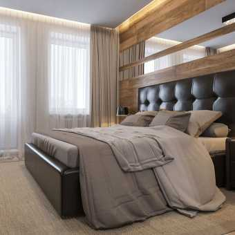 Тканевый потолок Descor в спальне
