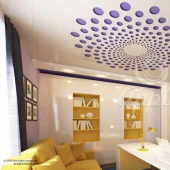 Резной потолок Apply в комнате
