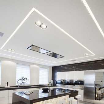 Парящие линии на потолке в квартире