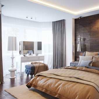 Тканевые потолки Cerutti  в спальне