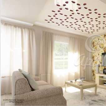 Проект резного потолка в гостиной