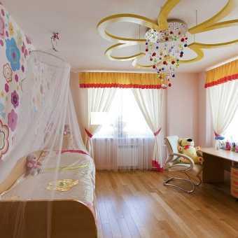 Натяжной потолок Натяжные потолки TEQTUM в детской