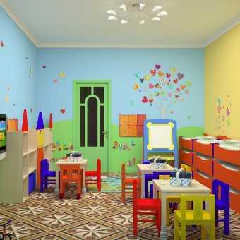 Натяжной потолок Натяжные потолки TEQTUM в детском саду