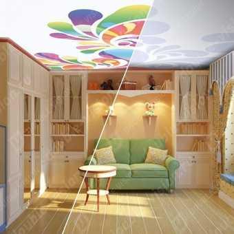 Потолок Double vision в детской. Проект.