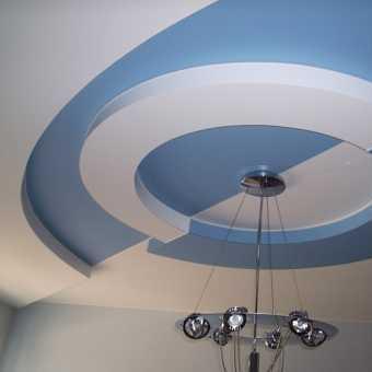 Двухуровневый потолок инь и янь