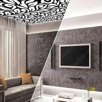 Проект потолка Double vision в гостиной