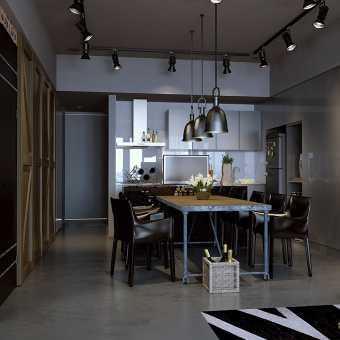 Серый матовый потолок