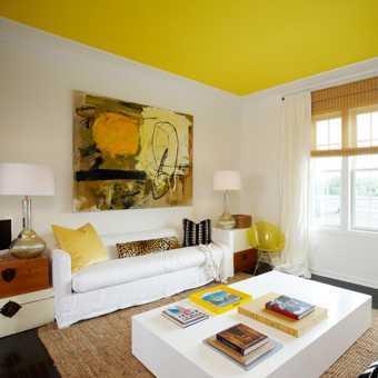 Лимонный матовый потолок