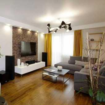 Тканевые потолки Cerutti  в гостиной