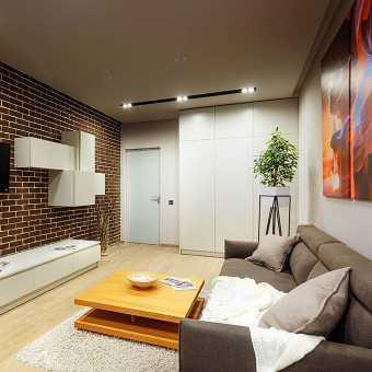 Натяжной потолок Pongs (Германия) в гостиной
