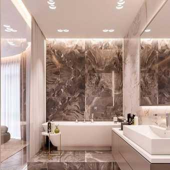 Потолок MSD Classic с подсветкой в ванной