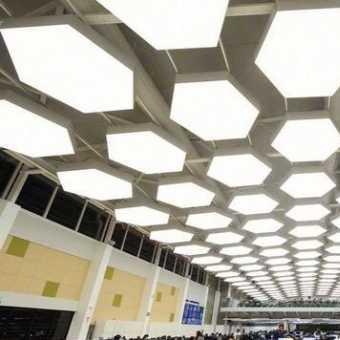 Световой натяжной потолок New Vision ромб