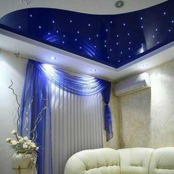 Двухуровневый потолок со звёздным небом